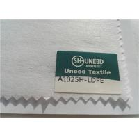 China 100% Polyester Chemical Bonded Interlining Non Woven Fabric With Scatter Coating on sale