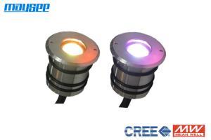China Ultra - Thin Powerful IP68 3w RGB LED Decking Lights / RGB LED Outdoor Lighting on sale