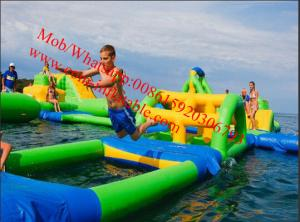 China PVC Tarpaulin Lake Inflatable Water Park for Adults Inflatable Aqua Park Games on sale