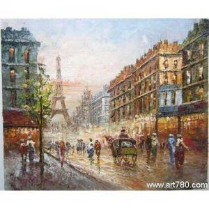 China Street art oil    Street oil painting on sale