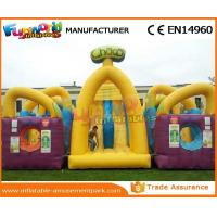 Yellow Boot Camp Tunnel Toys Indoor Obstacle Course Waterproof 0.55 mm PVC Tarpaulin