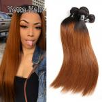 Comfortable 1B/30# Color Human Ombre Hair Extensions For Women CE BV SGS
