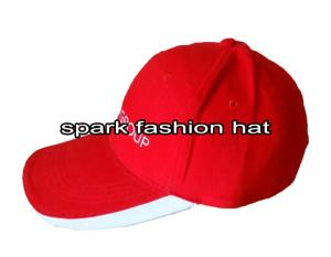 Quality 100% cotton red golf caps with customize logo for sale