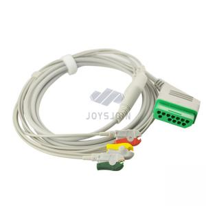 China Compatible Nihon Kohden one piece ECG cable 12pin clip IEC/AHA 3-lead cable ECG on sale