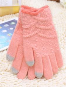 China knitted women touch screen gloves cashmere gloves on sale