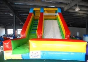 China Ground Kids Indoor & Outdoor Inflatable Dry slide Jumping Bouncer Slide With Ladder on sale
