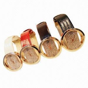 China Valentine's day gift ladies fashionable full diamond Geneva Japan movement quartz watches on sale