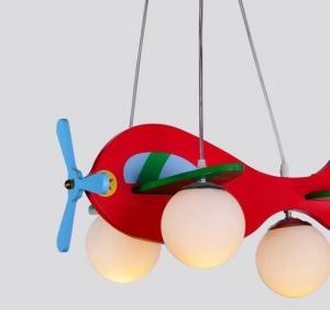 China Airplane & Fish shaped Wooden Cartoon Ceiling Lights Chandelier for Children's Living Room on sale