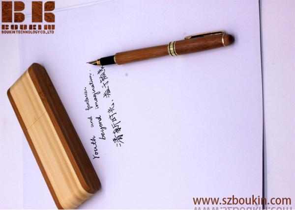Personalised Laser Engraved Ballpoint Wooden Pen in Wooden Box