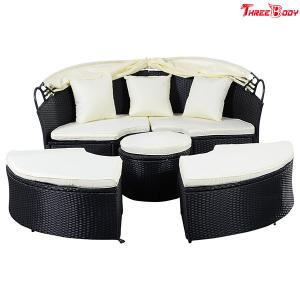 Quality Round Curved Outdoor Sofa Comfortable Contemporary Furniture Lounge For