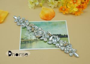 China Flatback Sparkling Glass Stone Rhinestone Ornaments , Wedding Rhinestone Appliques on sale