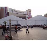White Large Trade Show Exhibition 9 By 20 Canopy Tent With Glass Wall