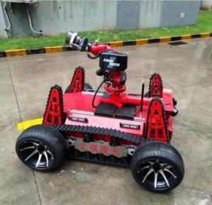 China Fire fighting robot  applied DC motor with large capacity battery type, modular distributed control design on sale