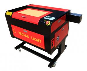 China máquina de grabado del sello del laser de la mesa del tubo de cristal del CO2 50W mini, sello que hace la máquina on sale