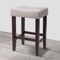 China Wood Vintage Padded Counter Stools Modern Backless Design Indoor Furniture on sale
