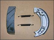 China Motorcycle brake shoes manufacturer and supplier in China FRONT and REAR AF34 on sale