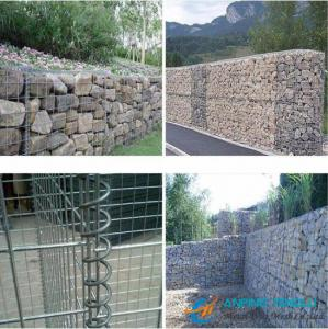China Low Cost Gabion Mesh/Gabion Box With Galvanized Wire, PVC Coated Wire on sale
