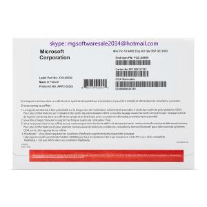 China Computer Application Windows 10 Pro OEM License DVD Pack COA Code Genuine OEM Key on sale