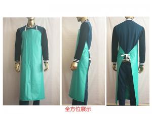 China Eco - Friendly Protective Clothing Aprons PVC Film Anti - Oil Acid Wear Resistant on sale