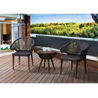 China Small Balcony Furniture Rich Espresso Wicker/Rattan Outdoor Deck Furniture Hot Sell on sale