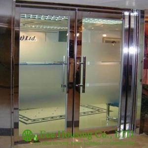 China Double-leaf Stainless steel fire proof emergency exit glass door on sale