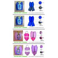 China Custom pink lycra kids floating swimwear / children swimming vest for young boys girls on sale