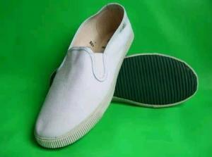 China Plain White Canvas Slip-on Shoes on sale