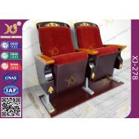 China Aluminum Leg Luxury Auditorium Theater Seating With Golden Wood Carved Works on sale