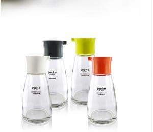 China seasoning glass bottle cone shape glass oil  bottle super flint glass vinegar bottle on sale