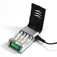 LCD Rapid 4 Slot Smart Rechargeable Battery Charger for AA AAA NiMH NiCD Battery