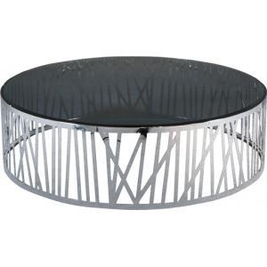 Quality Шинны журнальный стол нержавеющей стали, круглая стеклянная таблица конца металла, куря стеклянный стол for sale