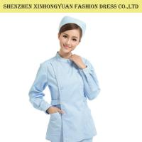 China Plain Medical Doctor Uniform / Nurse Uniform Dress With Embroidery Logo on sale