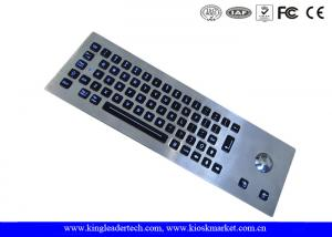 China LED Backlight Industrial Stainless Steel Keyboard with Trackball , 64 Keys on sale