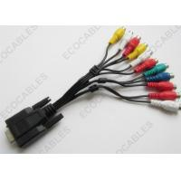 China TV Signal Cable D - SUB 15pin Female To 11 RCA Female Cable For TV /  DVD on sale