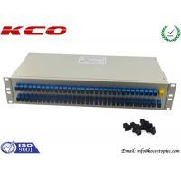 Rack Type Fibre Optic Cable Splitter PLC 1x64 Corning Optical Fiber Passive Optical Networks
