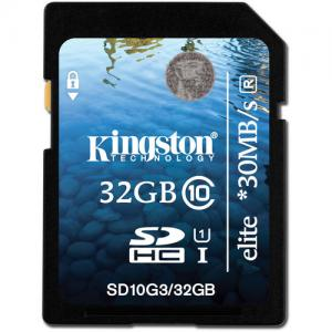 China Kingston 32GB SDHC Card Elite Class 10 UHS-1 Price $15.6 on sale