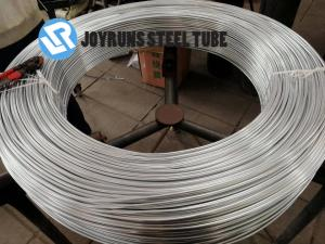 China 4.76*0.7MM ASTM A254 ,DC04 Bundy Galvanized Steel Tubing Coil Zinc Coated Lowe Carbon on sale