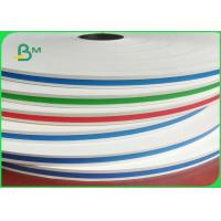 Food Grade Colorful Straw Paper 13.5mm 14mm 60g / 120g In Rolls Grade In AA