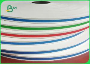 China Food Grade Colorful Straw Paper 13.5mm 14mm 60g / 120g In Rolls Grade In AA on sale