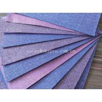 Good Looking Purple EVA Foam Glitter Sheets For Toys / Decoration , No Woven Materials