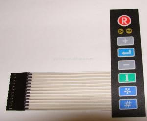 China Polyester / Polycarbonate Membrane Switch Keypad , Mylar Metal Dome Membrane Switch on sale
