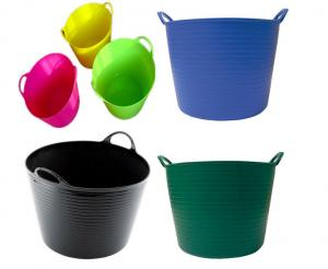 China 12L Household Soft Folding Plastic Cleaning Bucket Tub with Heavy Duty Handle for Multi - function on sale