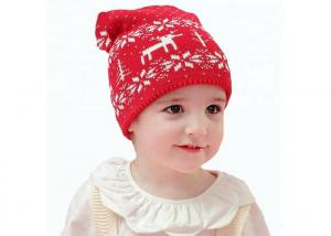 China Red Color Warm Winter Accessories Cute Crochet Beanie Hat 0.08KG Weight on sale