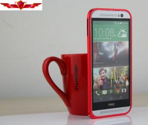 China Ultra Thin Multi Color 0.7MM Aluminum HTC M8 Bumper Cases Good Performance on sale