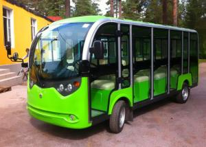 China 14 Seats Electrical Shuttle Bus With Door on sale