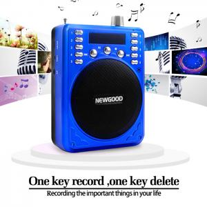 China 2018 NEWGOOD China Shenzhen Factory FM radio amplifier speaker player with voice recorder for sales promotion Supplier on sale