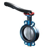 UPVC butterfly valve with red stamping handle