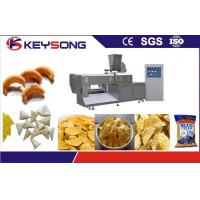 Yam Chips Snacks Puff Extruder Machine , Full Automatic Potato Chips Making Machine
