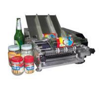 Plastic Bottle Labeling Machine , Semi Auto Pneumatic Sticker Applicator Machine