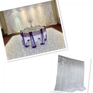 China Custom various size and color led star curtain for evnet decoration on sale